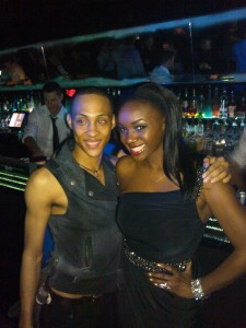 MJ Rodriguez and Saycon at XL Night club