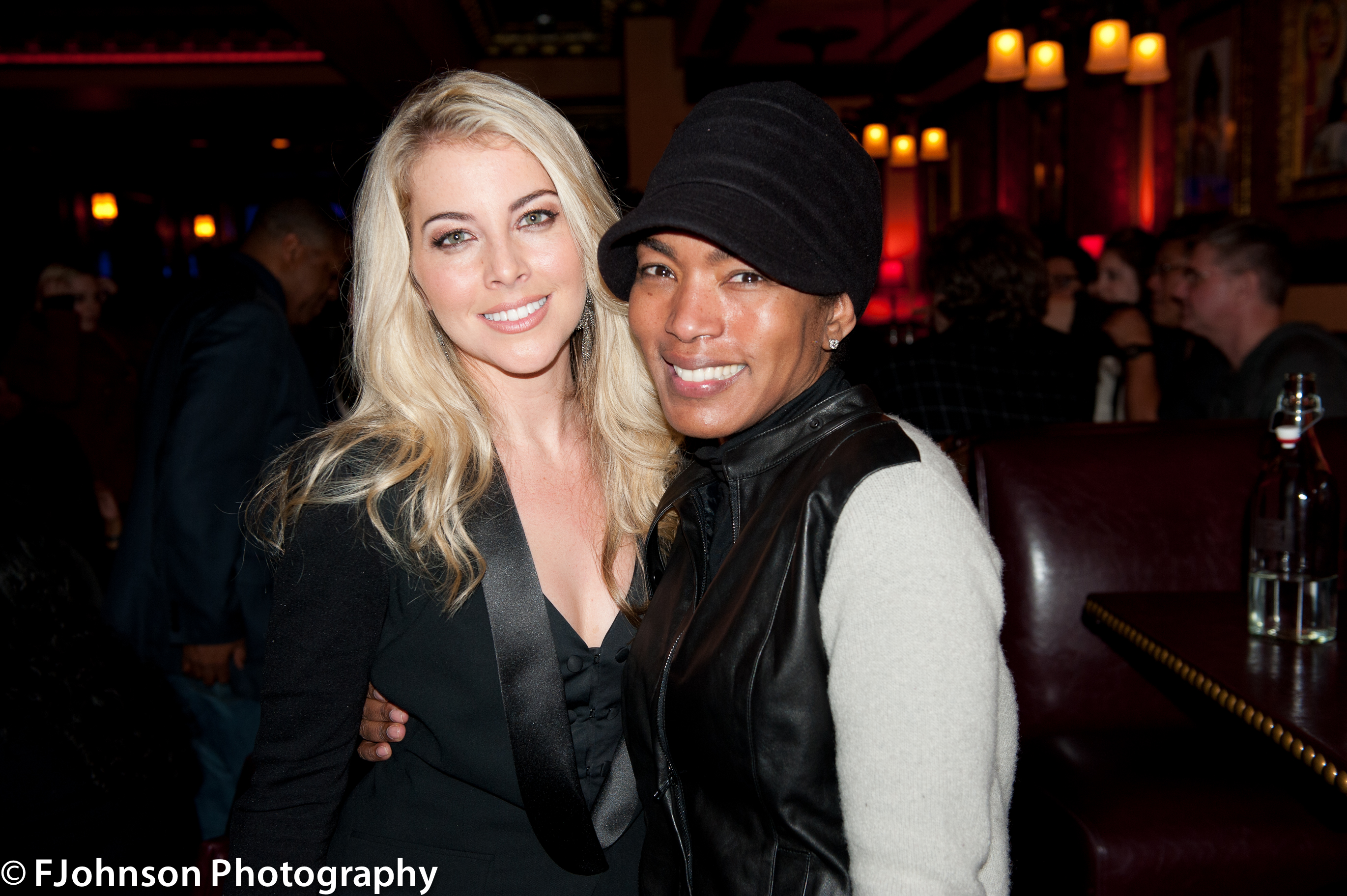 Morgan James and Angela Bassett