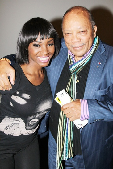 Saycon greets Quincy Jones after Motown performance!