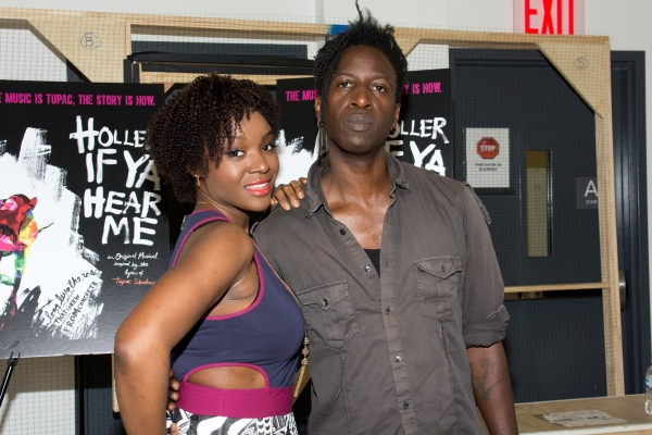 Saycon Sengbloh plays Corrine and Saul Williams plays John in Holler If Ya Hear Me