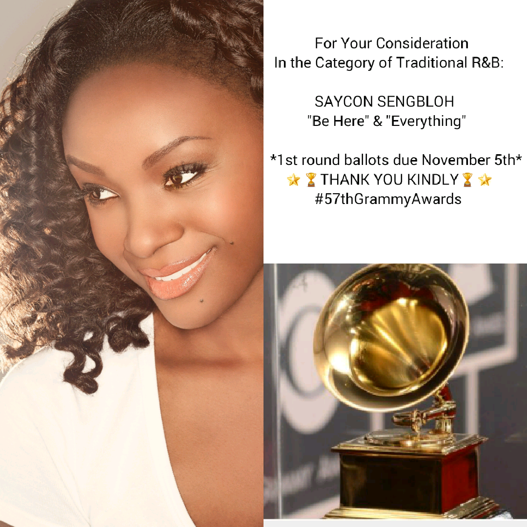 Saycon Sengbloh is on the 57th Grammy Ballot for Best Traditional R&B Song