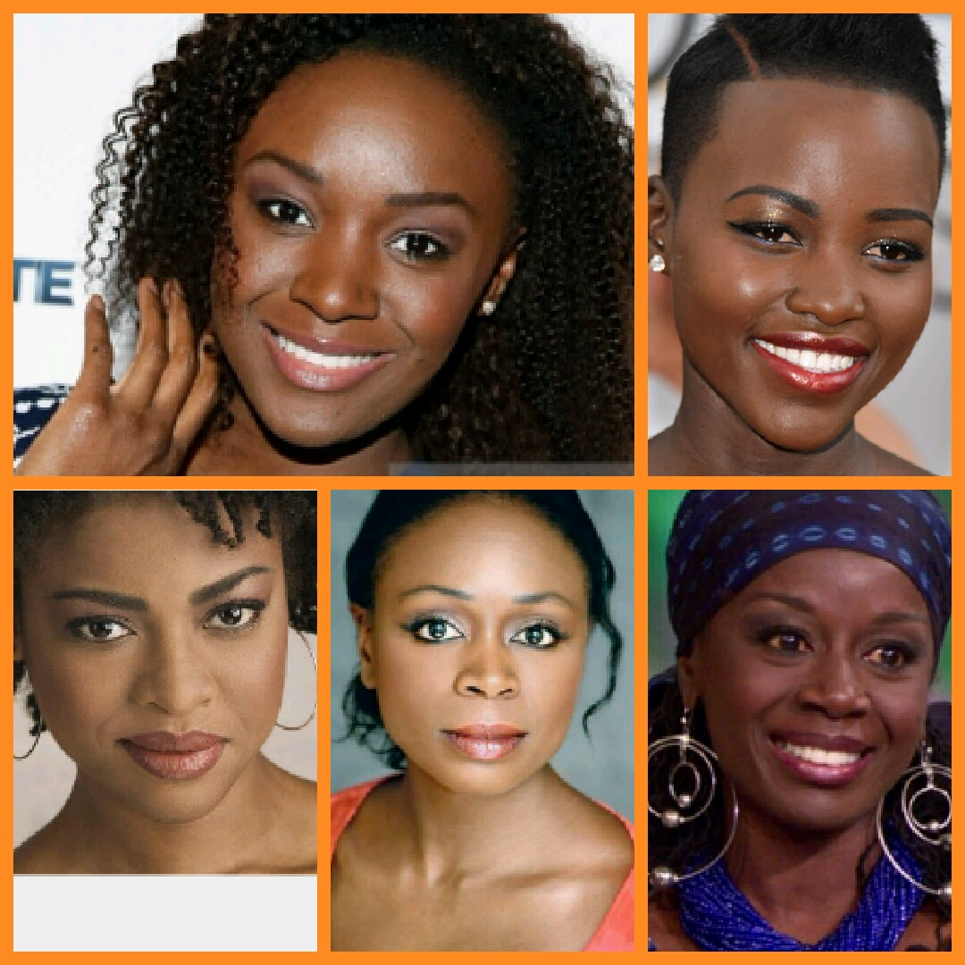 Clockwise from upper left Saycon Sengbloh, Lupita Nyong'o, Akosua Busia, Zainab Jah, and Pascale Armand.
